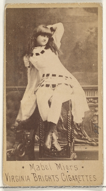 Mabel Miers, from the Actors and Actresses series (N45, Type 1) for Virginia Brights Cigarettes