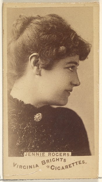 Jennie Rogers, from the Actors and Actresses series (N45, Type 1) for Virginia Brights Cigarettes