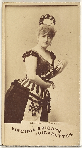 Lillian Russell, from the Actors and Actresses series (N45, Type 1) for Virginia Brights Cigarettes