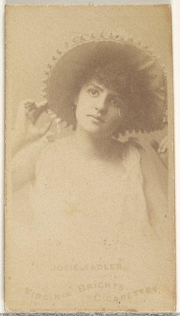 Josie Sadler, from the Actors and Actresses series (N45, Type 1) for Virginia Brights Cigarettes