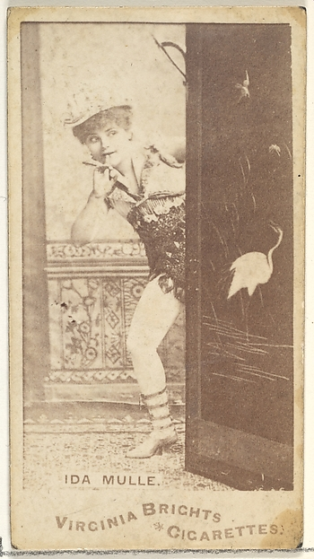 Ida Mulle, from the Actors and Actresses series (N45, Type 1) for Virginia Brights Cigarettes