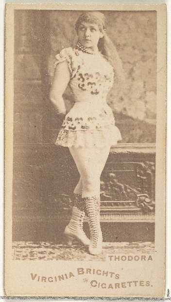 Thodora, from the Actors and Actresses series (N45, Type 1) for Virginia Brights Cigarettes