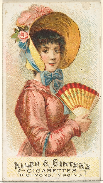 Plate 2, from the Fans of the Period series (N7) for Allen & Ginter Cigarettes Brands