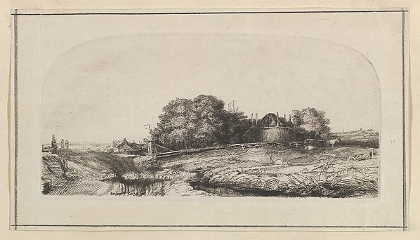 Landscape with a Haybarn and a Flock of Sheep (copy)