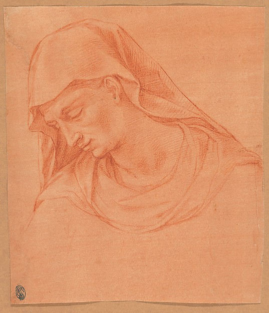 Head of a Mourning Woman in Profile to the Left