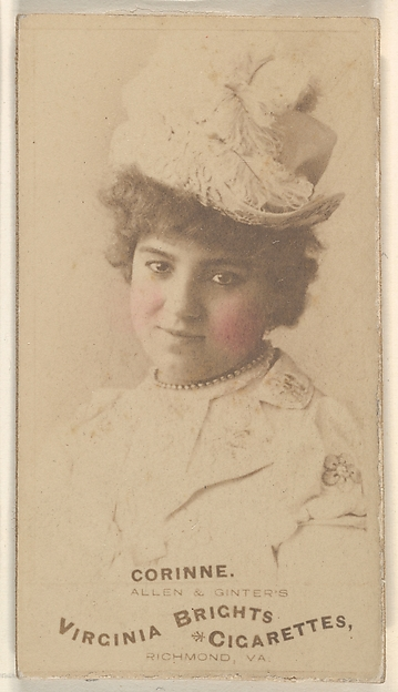 Corinne, from the Actors and Actresses series (N45, Type 1) for Virginia Brights Cigarettes