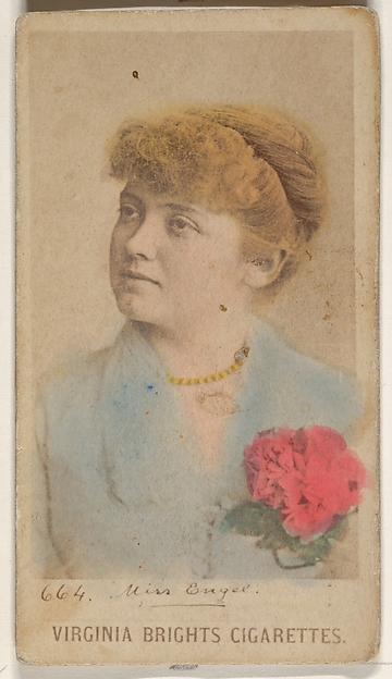 Card 664, Miss Engel, from the Actors and Actresses series (N45, Type 1) for Virginia Brights Cigarettes