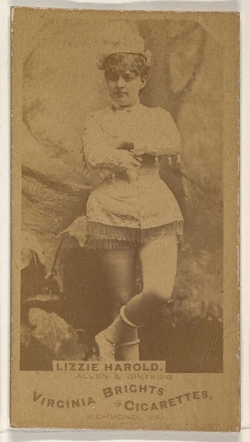 Lizzie Harold, from the Actors and Actresses series (N45, Type 1) for Virginia Brights Cigarettes