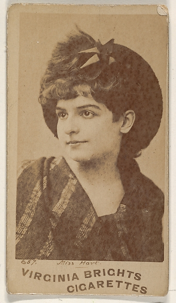 Card 657, Miss Hart, from the Actors and Actresses series (N45, Type 1) for Virginia Brights Cigarettes