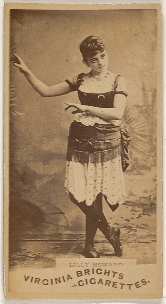 Lilly Howard, from the Actors and Actresses series (N45, Type 1) for Virginia Brights Cigarettes
