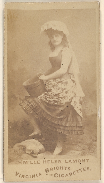 M'lle Helen Lamont, from the Actors and Actresses series (N45, Type 1) for Virginia Brights Cigarettes