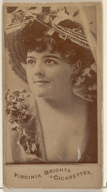 From the Actors and Actresses series (N45, Type 4) for Virginia Brights Cigarettes