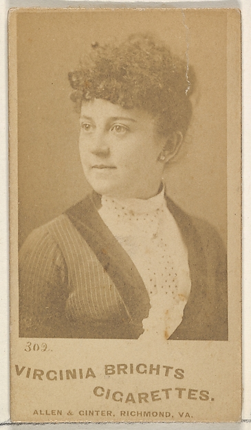 Card 302, from the Actors and Actresses series (N45, Type 5) for Virginia Brights Cigarettes