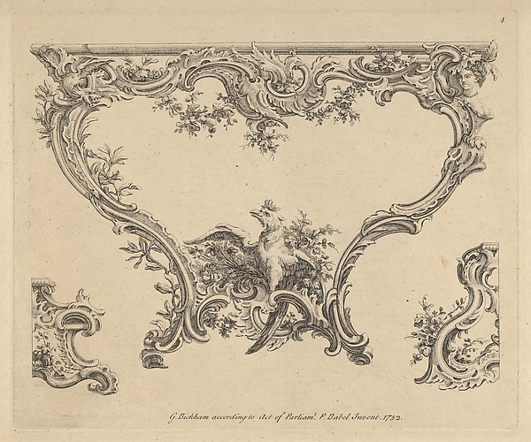 Fascinating Historical Picture of Pierre Edm Babel with Design for a Console Table in 1752