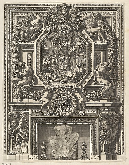 Chimney with a Bacchanal over the Mantle from 'Grandes Cheminée'