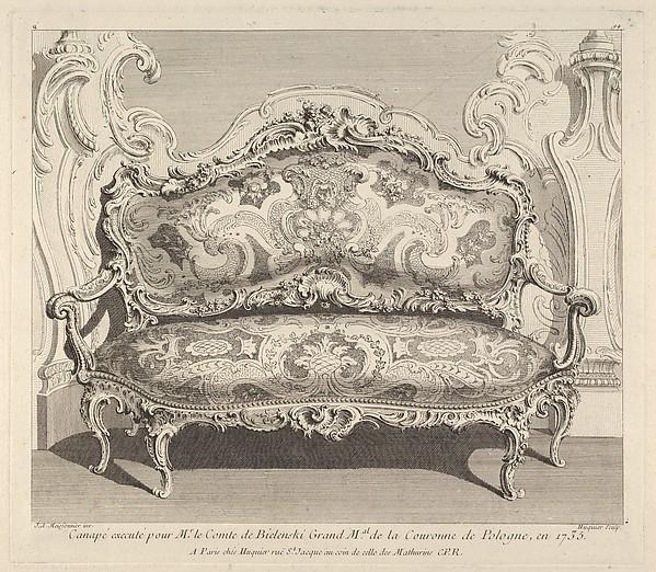 Canapé executé pour Mr. le Comte de Bielenski, from 'Oeuvre de Juste Aurele Meissonnier'