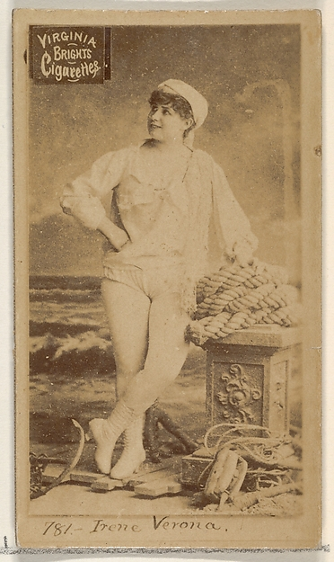 Card 781, Irene Verona, from the Actors and Actresses series (N45, Type 2) for Virginia Brights Cigarettes