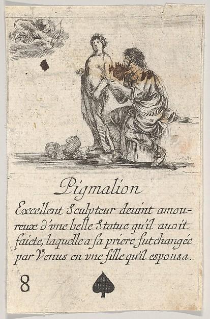 Pygmalion, from 'Game of Mythology' (Jeu de la Mythologie)