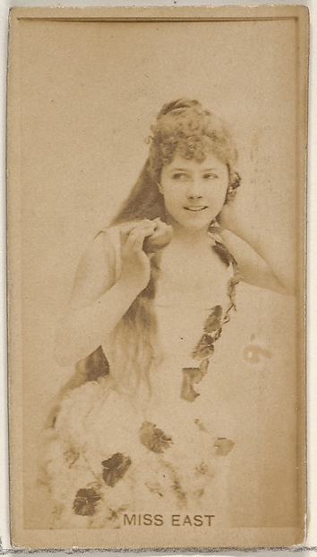 Miss East, from the Actors and Actresses series (N45, Type 8) for Virginia Brights Cigarettes