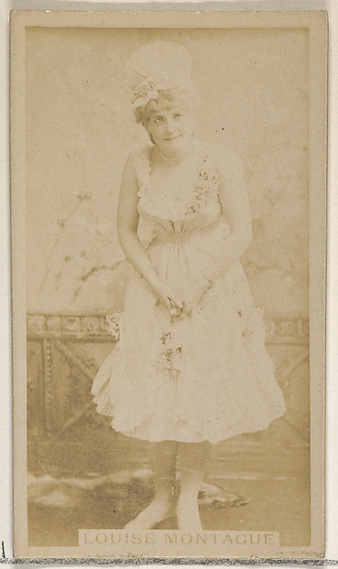 Louise Montague, from the Actors and Actresses series (N45, Type 8) for Virginia Brights Cigarettes
