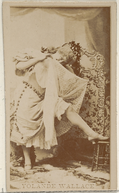 Yolande Wallace, from the Actors and Actresses series (N45, Type 8) for Virginia Brights Cigarettes