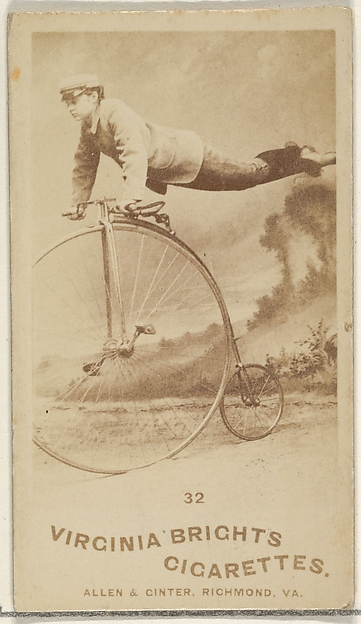 Card 32, from the Girl Cyclists series (N49) for Virginia Brights Cigarettes