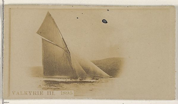 Valkyrie III, 1895, from the Famous Ships series (N50) for Virginia Brights Cigarettes