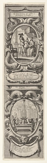 Fascinating Historical Picture of Abraham Bosse with Allegories in Honor of the Birth of the Dauphin in 1638