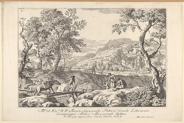 This is What Marco Ricci and Landscape with man leading a pack horse across a wooden bridge three figures in right foreground t Looked Like  in 1723
