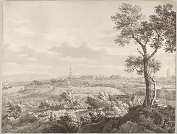 Fascinating Historical Picture of Jean Antoine Constantin called Constantin dAix with View of Aix-en-Provence in 1773