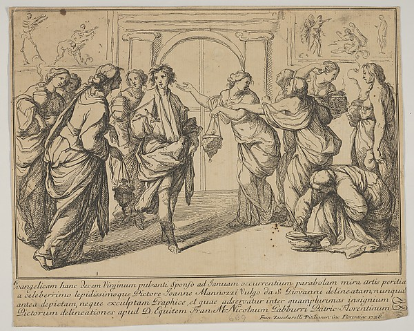 This is What Francesco Zuccarelli and The wise and the foolish Virgins Looked Like  in 1728
