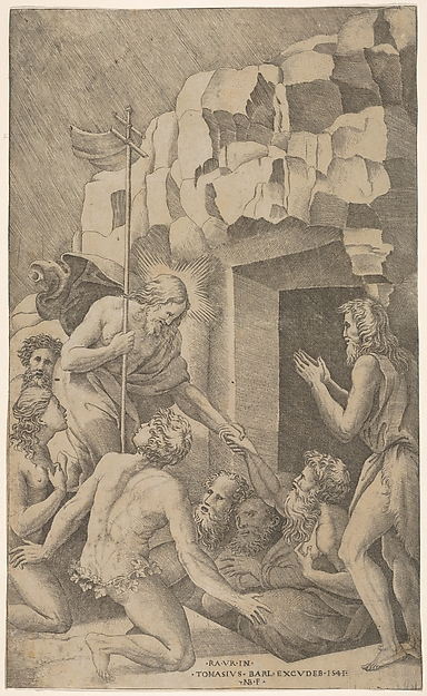 This is What Nicolas Beatrizet and Christ in Limbo after Raphael Looked Like  in 1541