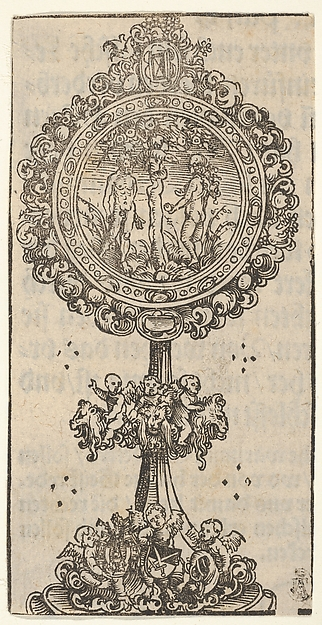 Fascinating Historical Picture of Elder with A Relief with Adam and Eve from the Large Series of Wittenberg Reliquaries in 1509