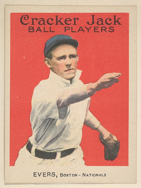 Evers, Boston, National League, from the Ball Players series (E145) for Cracker Jack