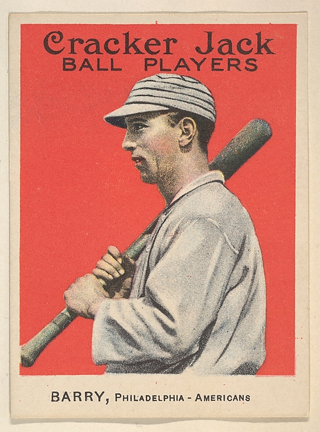 Barry, Philadelphia, American League, from the Ball Players series (E145) for Cracker Jack