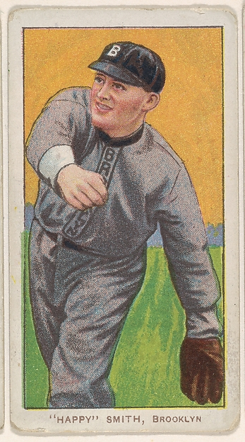 """Happy"" Smith, Brooklyn, National League, from the White Border series (T206) for the American Tobacco Company"