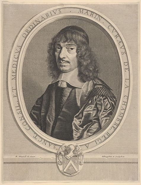 Fascinating Historical Picture of Robert Nanteuil with Marin Cureau de La Chambre in 1656