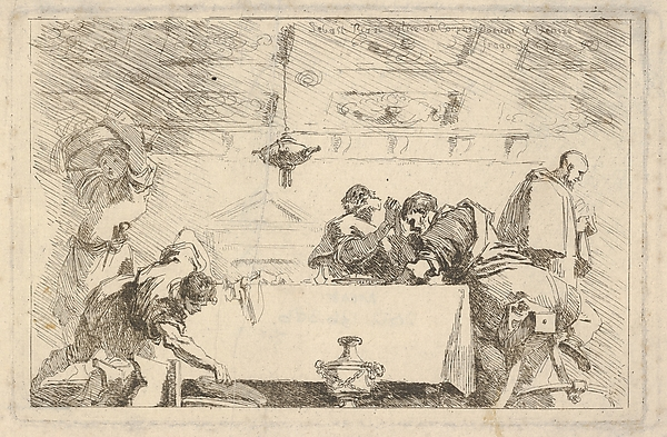 This is What Jean Honor Fragonard and The Last Supper Looked Like  in 1761