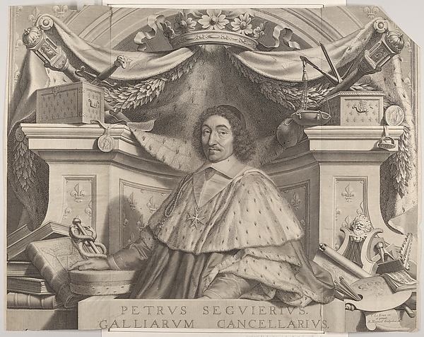 Fascinating Historical Picture of Robert Nanteuil with Le chancelier Pierre Sguier in 1656