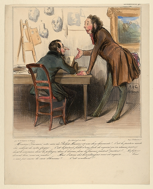 Fascinating Historical Picture of Honor Daumier with Monsieur Daumier your Robert-Macaire series is delightful. Its an exact picture of the thieves of on 4/8/1838