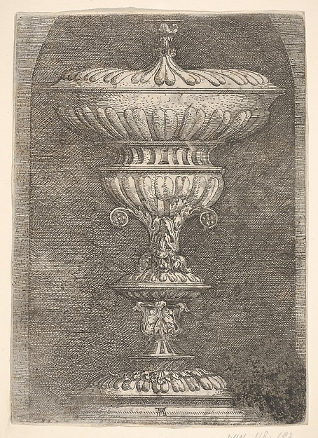 Covered Goblet in a Niche