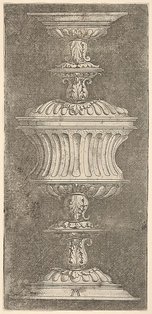 Double Goblet with Flutes and Acanthus-Leaves