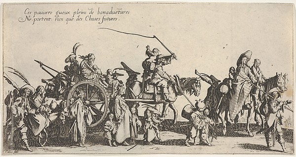 Fascinating Historical Picture of Jacques Callot with The marching gypsies| the rear guard (Les bohmiens en marche| larrire-garde) also called T in 1592