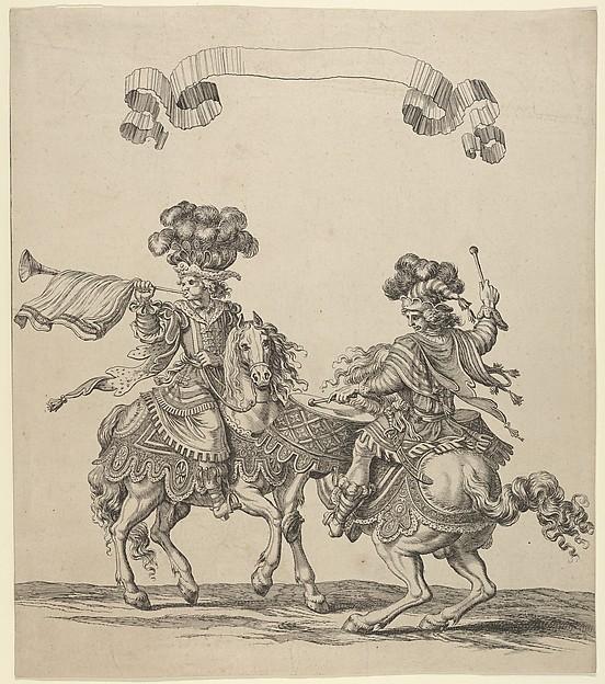 """Plate 30 from """"Course des Tetes et Bagues"""""""