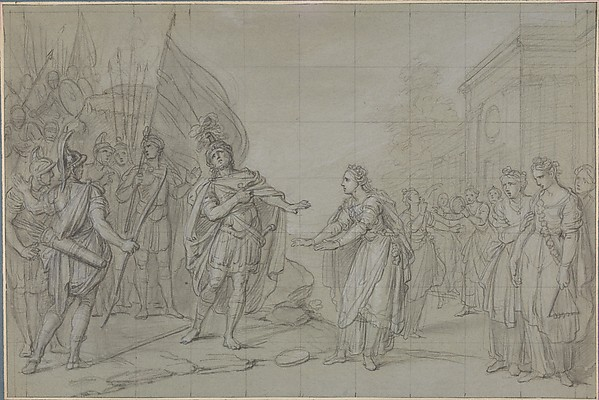 Fascinating Historical Picture of Charles Antoine Coypel with The Daughter of Jephthah in 1710