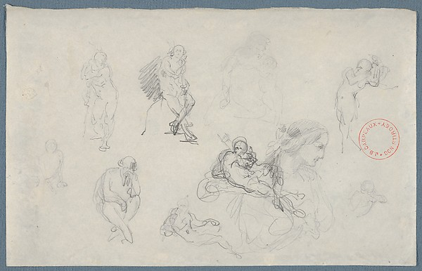 Studies after Michelangelo