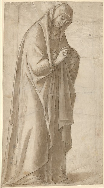 Standing Female Figure (St. Anne; Cartoon for a Painting)