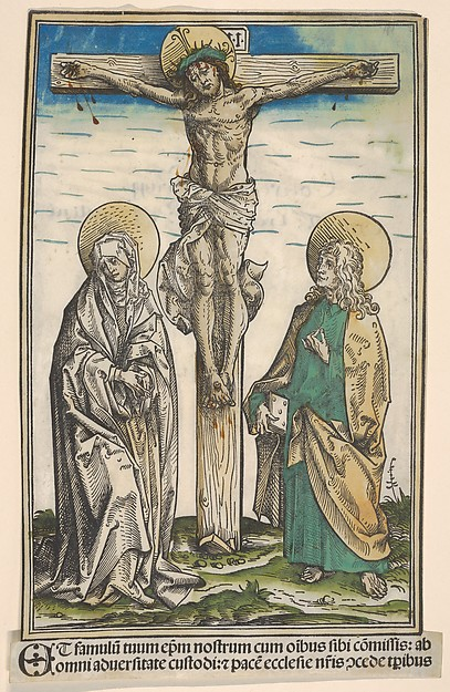 Christ on the Cross with the Virgin and Saint John, from the Passau Missal (Missale Pataviense)