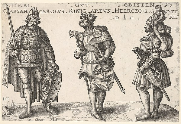 Three Worthy Christians: Charlemagne, King Arthur, and Geoffrey of Bouillon