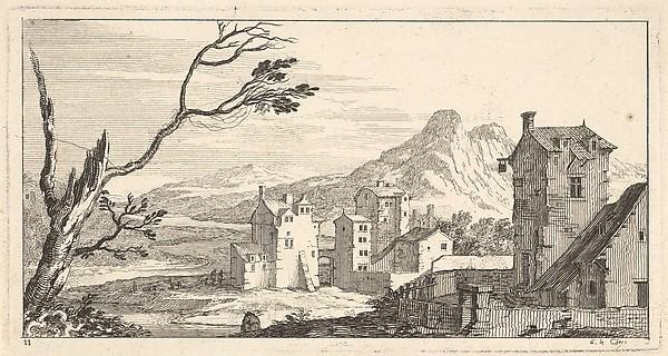 View of a City, plate XI from Livre de paysages dédié à Monsieur de Beringhen